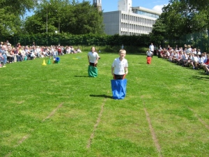 Year 6 in the Sack race